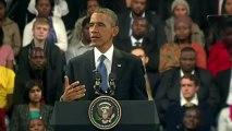 Soweto: Obama appelle à s'inspirer de Mandela