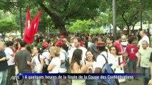 Brésil: manif avant la finale de la Coupe des Confédérations