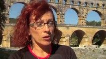 Courir avec Sarah : 11 kilomètres de course à pied et en fauteuil sur le site du Pont du Gard