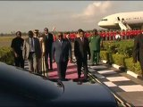 Arrivée du Président gabonais Ali Bongo Ondimba à Dar Es Salam, en Tanzanie