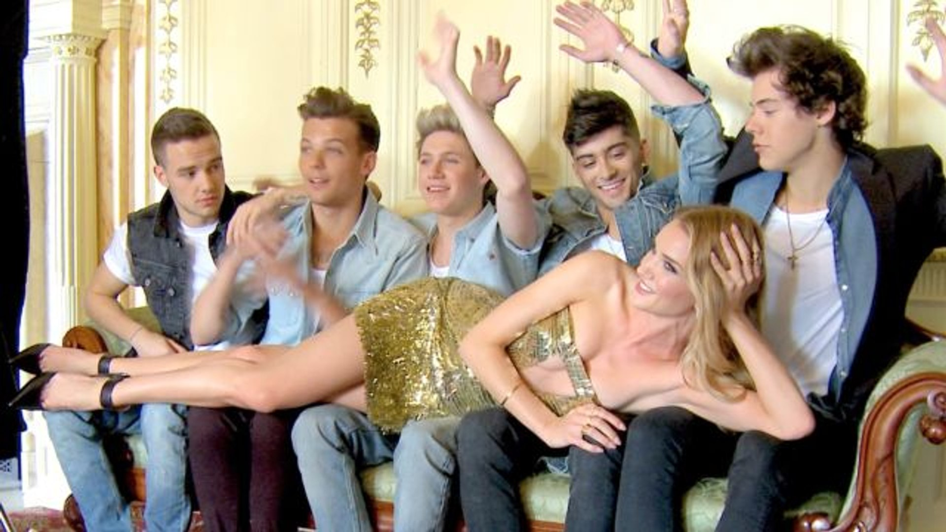 Glamour Cover Shoots - Go Behind the Scenes of One Direction's Photo Shoot with Rosie Huntington-Whi