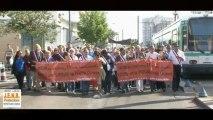 Noisy-le-Sec Manifestation contre le tramway par le centre-ville