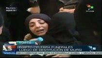 Egipto celebra funerales luego de destitución de Mohamed Mursi