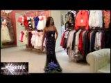 KOKETKA BOUTIQUE - Длинное расшитое вечернее платье, цвета бордо