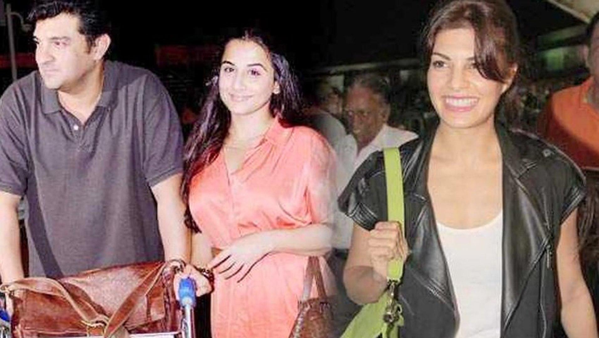 Vidya Balan, Jacqueline Fernandez Leave For Macau – IIFA 2013 #IIFA2013
