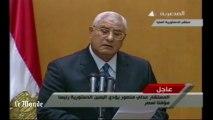 Adly Mansour prête serment comme président égyptien par intérim