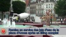 Douai - Remise en service des jets d'eau de la place d'Armes après un lifting complet