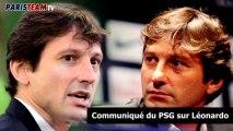 Communiqué du PSG sur Léonardo