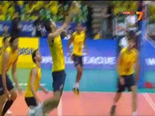 Brazil - Bulgaria 5.07.2013 World League volleyball 2/2