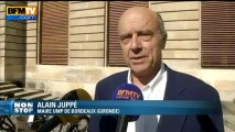 """Alain Jupé: """"Face aux difficultés de l'UMP tout le monde doit se rassembler"""" derrière Sarkozy - 08/07"""