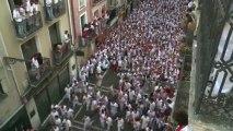 Espagne : premier lâcher de taureaux dans les rues de Pampelune