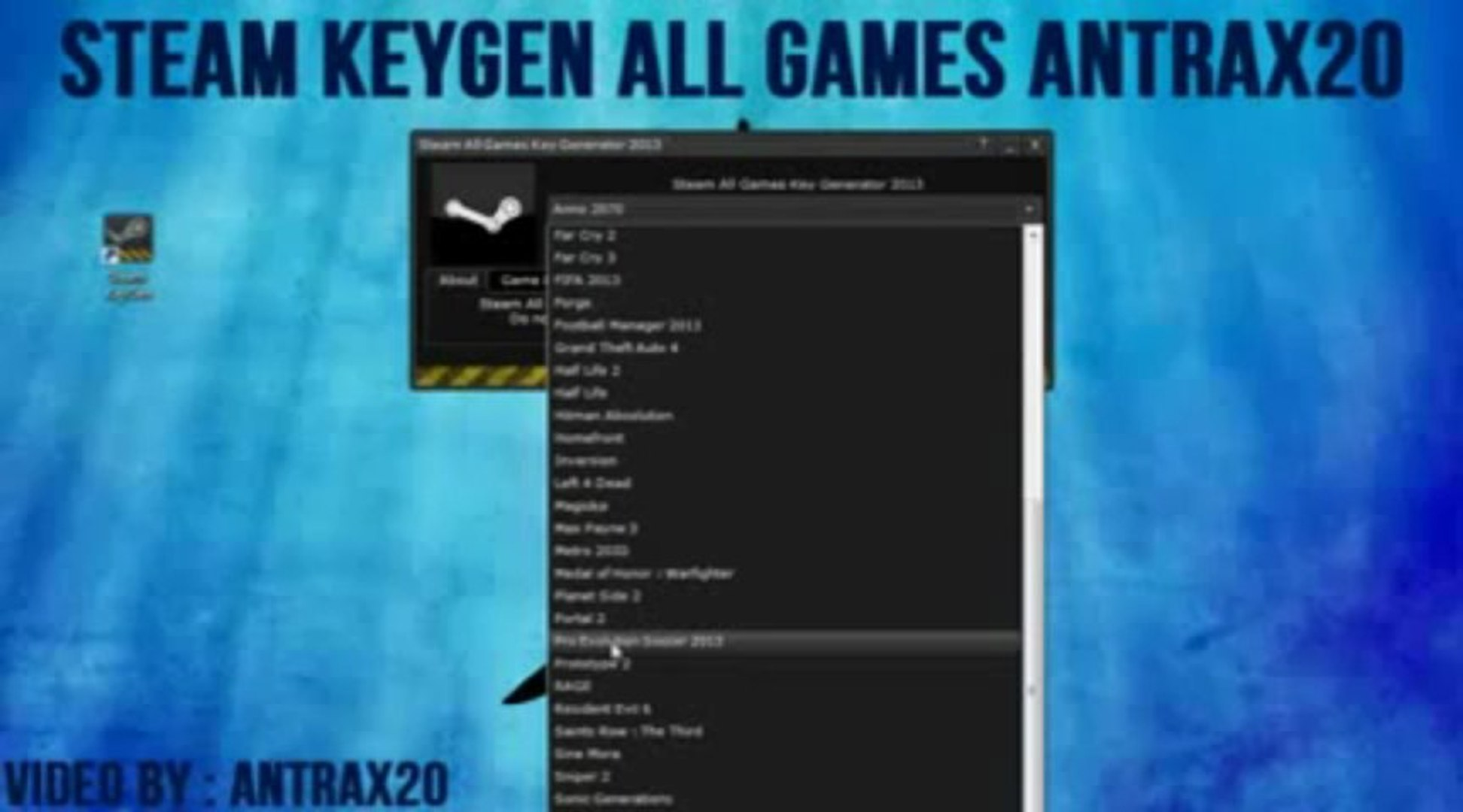 STEAM KEY GENERATOR 2013 ALL GAMES 2013 FREE DOWNLOAD FREE 2013
