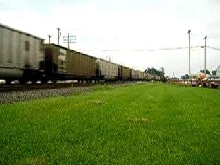 BNSF Freight Train through Mt. Pleasant