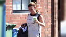 New Mum Coleen Rooney Works Up a Sweat at Yoga Class
