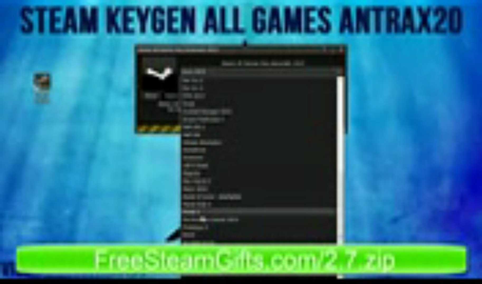 STEAM KEY GENERATOR 2013 - ALL GAMES 2013 - FREE DOWNLOAD [FREE] - HD + Proof! - 2013
