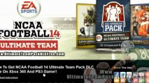 NCAA Football 14 Ultimate Team Pack DLC Free on Xbox 360 And PS3