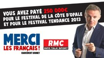 Merci les Français - 250 000€ pour le Festival de la Côte d'Opale et pour le Festival Tendance 2013