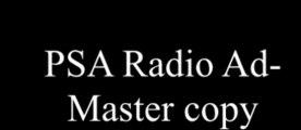 Jamarcus Newton. PSA Radio AD. Mr. HimselCMM 324 Radio Programming & Production