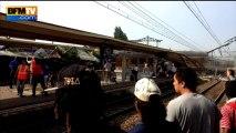 """Déraillement d'un train à Brétigny-sur-Orge: """"deux wagons complètement déchiquetés"""" - 12/07"""