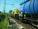 Passage d'un train de fret en gare de Saint-Fons (69) BB 60096 VOssloh