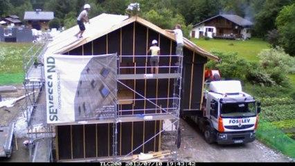 SEVESSAND Constructions Bois - Montage maison passive CHAMONIX - Day n°3