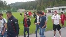 Φίλαθλοι του Ολυμπιακού στο Ζέεφελντ της Αυστρίας
