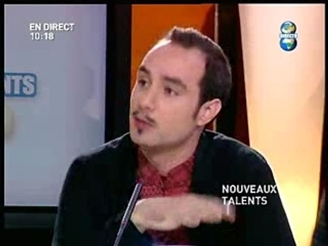 """Iinterview émission """"Nouveaux talents"""""""