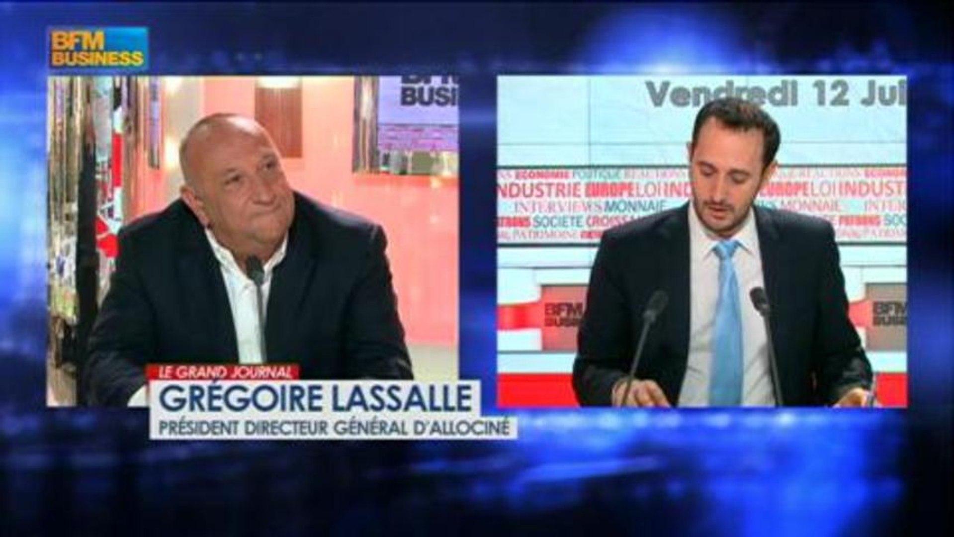 Grégoire Lassalle, président directeur général d'AlloCiné dans Le Grand Journal - 12 juillet 3/4
