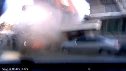 Violente explosion de gaz en Corée du sud !