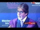 Amitabh Bachchan at Subhash Ghai's film institute