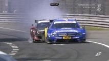 DTM 2013 Norisring Race Paffet Mortara Crash Collision