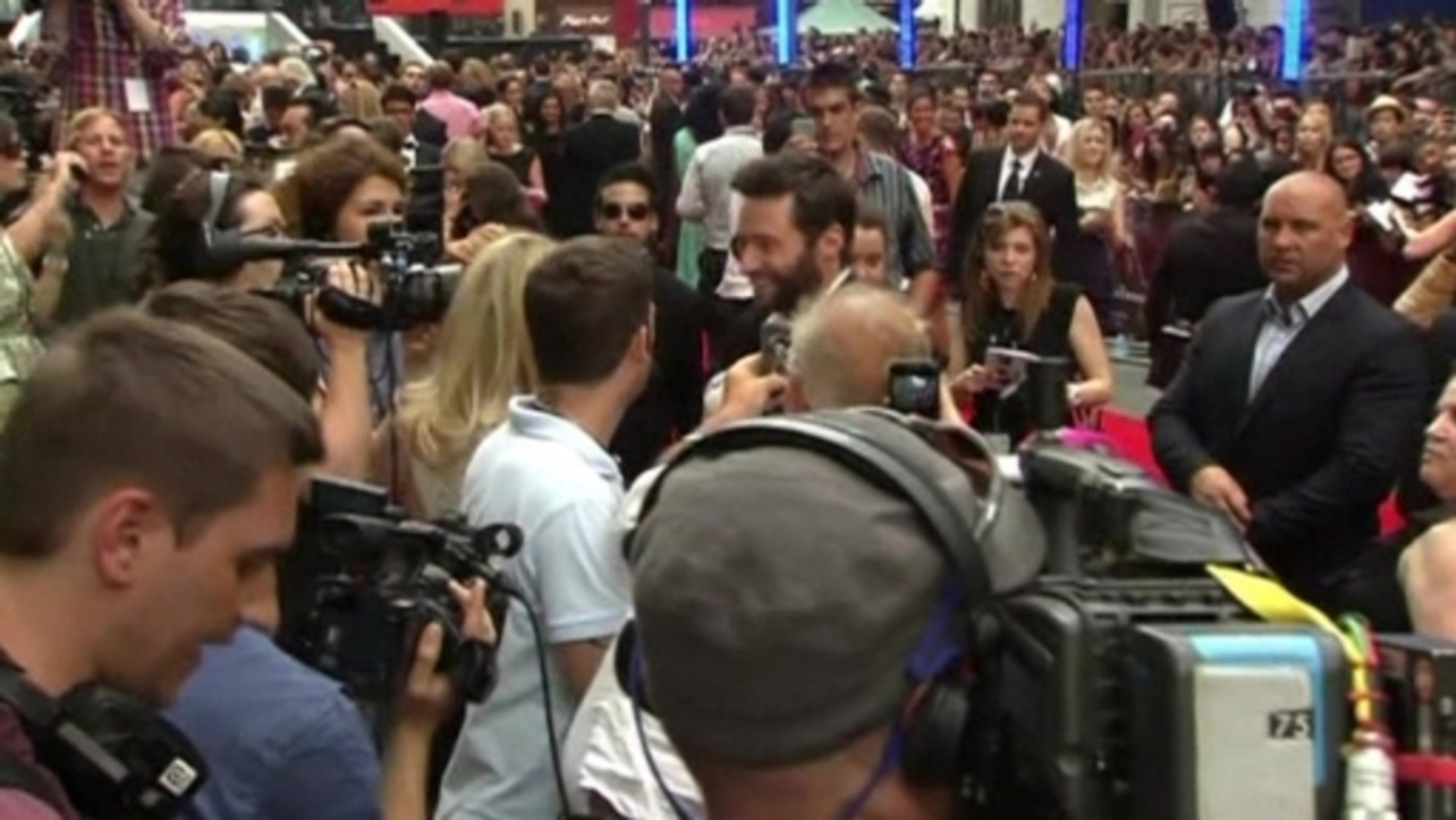 Hugh Jackman talks box office nerves and weight gain at the UK premiere of 'The Wolverine'