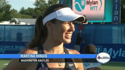 World TeamTennis: Martina Hingis Interview July 15th, 2013
