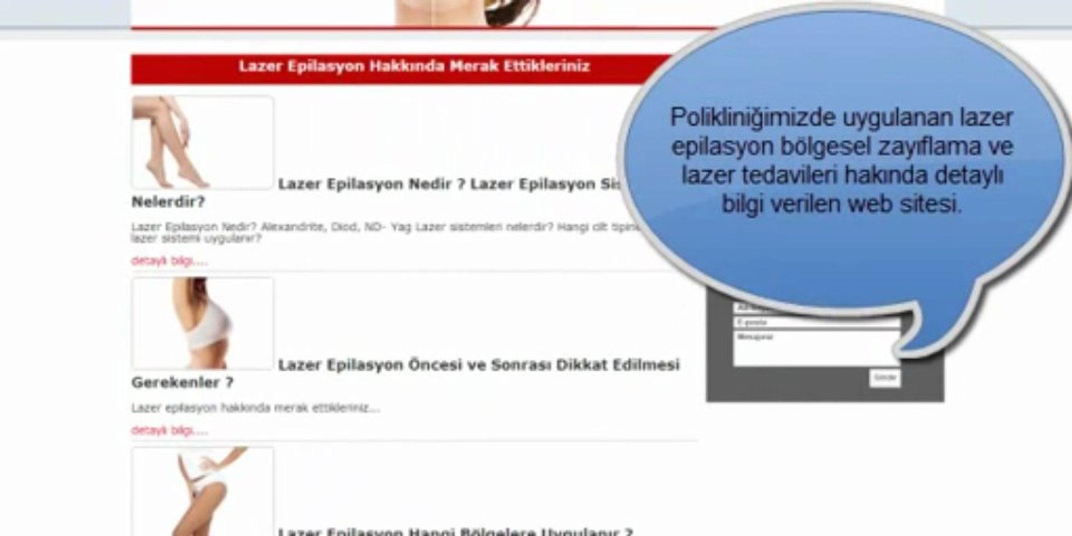 Lazer Epilasyon Bolgesel Zayiflama Lazer Tedavilerini Anlatan Site