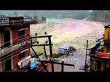 Rare footage of buildings washed away by the Uttarakhand floods