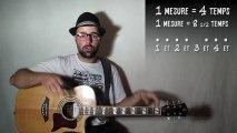 Le rythme à la guitare, les 8 demi-temps en pratique (rythme 04) avec zamzam