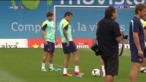 Barcelona complete first half of double session before trip to Poland