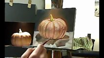 Still life oil painting demo - Pumpkin by Ben Sherar