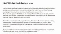 How Bad Credit Business Loans Meet Business Financial Needs