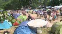 Ambiance camping au festival des Vieilles Charrues