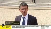Manuel Valls annonce la dissolution de deux groupes d'extrême-droite