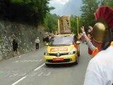 100 ans du tour de France 2013 : jeudi 18 juillet et vendredi 19 juillet 2013 à { Alpes-d'Huez et le Grand-Bornand } logé chez des Amies à SIEVOZ .