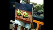 Still life painting demo - Cocktail olives by Ben Sherar