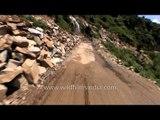 Totally damaged roads  - On the way to Guptkashi