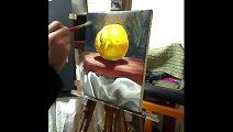 Still life oil painting demo - Lone Lemon by Ben Sherar