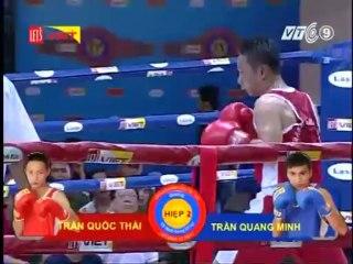 Trận 2: Võ sĩ Trần Quốc Thái (Quân khu 7) - Võ sĩ Trần Quang Minh ( TP.HCM)