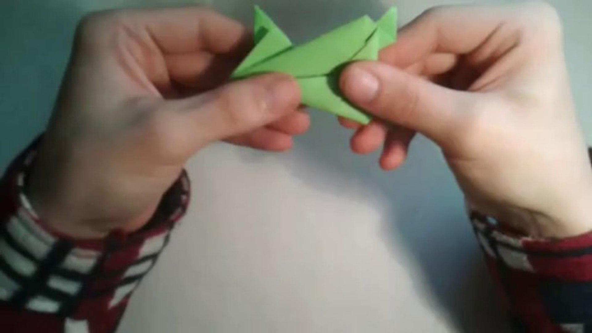 Origami Jumping Frog -Rana Saltarina - YouTube | 1080x1919