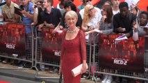 Red Hot Helen Mirren Fans Herself at Red 2 Premiere