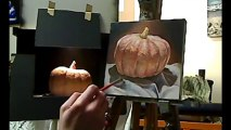 """Oil painting time lapse demo - """"Perfect pumpkin"""" by Ben Sherar"""