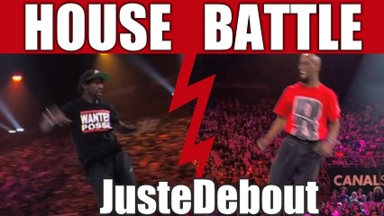 House dance battle :  ADN & Zwagga vs Serge & Kapela